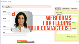 Feed your contact list with webforms