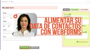 Alimentar su lista de contactos con webforms
